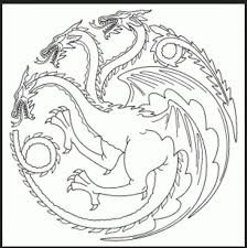 Game Of Thrones Coloring Book 1 Color Pages Game Of Thrones