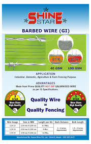 Gi Wire Weight Chart Barbed Wire Fencing Contractors Barbed Wire Weight Per