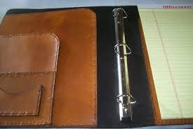 custom made custom leather binder