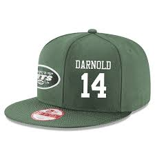 - Hat white Adjustable Sam 14 Green Player New Stitched Darnold York Jets Snapback Nfl