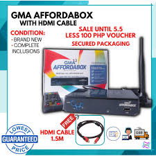 android tv box GMA Affordabox Digital TV Receiver with HDMI Cable TV Box  (On-Hand and Ready to Ship!