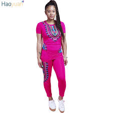 plus size short sets haoyuan 2 two piece set women ladies african print outfits plus size