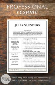 Resume Template The Julia Professional Resume Template Cv