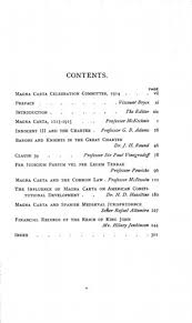 magna carta commemoration essays online library of liberty original table of contents or first page