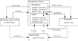 Carbon Cycle Flow Chart Flow Chart Showing The Carbon Cycle Model In The Present