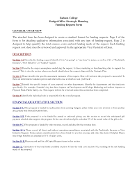 Funding Proposal Template - Resume Template Ideas
