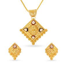 Latest Locket Set Designs In Gold Buy Gold Diamond Pendant Set Shop 22kt Gold Pendant