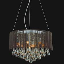 brizzo lighting s 64 gocce modern string drum shade crystal
