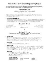 Fresh Ideas Resume For College Freshmen 7 Resume For Freshman