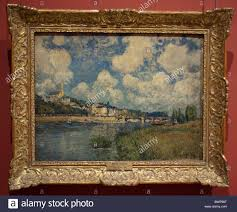 paris france louvre museum french impressionist paintings on display in art gallery saint cloud by alfred sisley