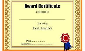 Best Teacher Certificate Templates Free Best Teacher Certificate Templates Free Student Award Certificates