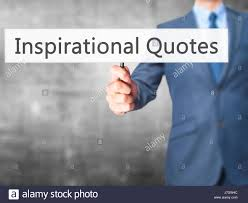 Inspirational Quotes Businessman Hand Holding Sign Business Stock