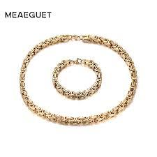 Aliexpress.com : Buy Men <b>Thick</b> Byzantine Chain <b>Jewelry Sets</b> ...