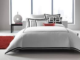 hotel collection bedding tuxedo embroidery contemporary bedroom