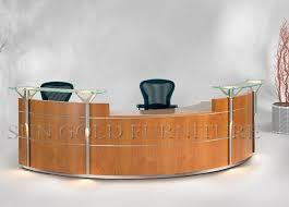 office reception table. elegant design reception table with glass topsolid wood surface modern office desk szrt046 buy deskmodern
