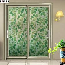 door privacy sliding glass door privacy decorative window green self adhesive glue stained window stickers sliding door privacy
