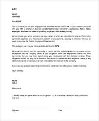 How To Write A Termination Letter To An Employer Inspiration Termination Letter Sample 48 Free Documents In Word PDF