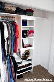 making the world cuter diy closet organizer makingtheworldcuter com
