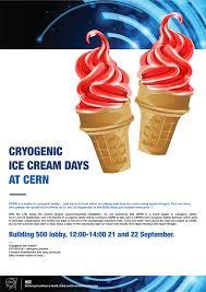 Ice Cream Server Cryogenic Ice Cream Days At Cern 21 22 September 2016 Cern