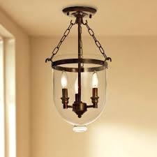 copper grove antique glass lantern flush mount chandelier diy
