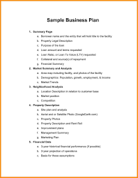 The Example Of Business Plan Examples Pdf Free Parts Resume