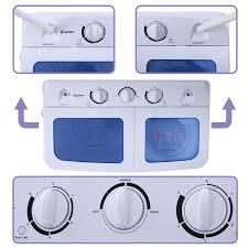 Mini Clothes Washer Costway Portable Mini Compact Twin Tub 166lb Washing Machine