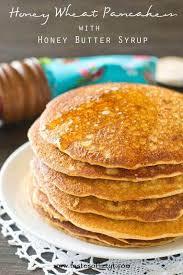 honey wheat pancakes with honey er