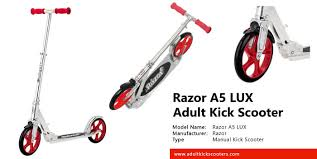 Razor A5 Lux Adult Kick Scooter Review Adultkickscooters Com