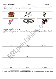 Phonics teaches a student to read by using the sounds of the letters in a word. Phonics Worksheet 2 E E E Ee Ea Esl Worksheet By Vickylin731