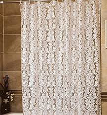 white lace shower curtain. Ufriday Art Design Damask Floral Shower Curtain Liner PEVA Eco-Friendly With Rust Proof Metal White Lace U