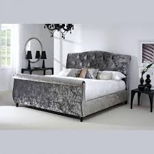 bedroom furniture gray velvet upholstered full size platform with tufted headboard padded frame designs ideas classic mid century white and queen cushion