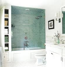 floor to ceiling subway tile bathroom. shower: light green shower tile floor subway tiles bathroom to ceiling