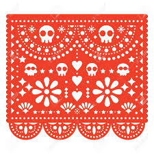 Papel Picado Designs For Day Of The Dead Skulls Papel Picado Vector Design Mexican Paper Cut Out Pattern