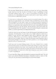 Investment Banking Cover Letter Sample Investment Banking Cover