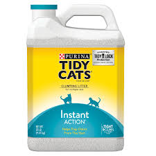 image cat litter. Purina Tidy Cats Instant Action Clumping Cat Litter, 20-lb Jug Image Cat Litter