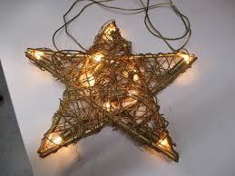 Rattan Weihnachtsstern Beleuchtet D 31 Cm