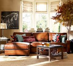 living room with brown leather sofa. rustic leather living room furniture fpudining with brown sofa l