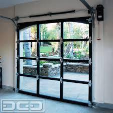 full view garage doorFullView Glass  Metal Garage Doors for a Spanish Residence in La