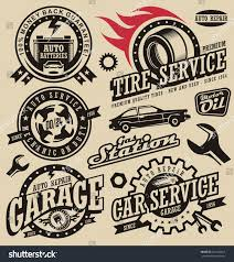 Engine Parts Design Car Service Symbols Auto Engine Parts Stock Vector Royalty