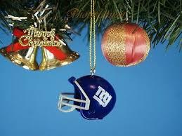 Nfl Football Helmet New York Giants Christbaumschmuck Xmas