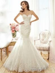 lace fishtail wedding dress strap for sale