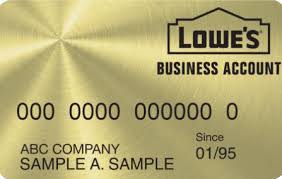 Lowes Commercial Credit Card Application Lowes Credit Card Lowes Business Account Store Credit Card