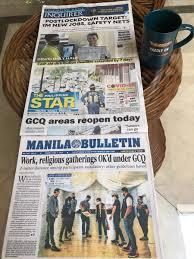 Compact tabloid papers circulate around politics, such as progressive to conservative and from capitalist to socialist. Peter Macarthur On Twitter After 6 Weeks Without A Hard Copy Manila Newspaper So Pleased On This Mayday2020 To Find Copies On Breakfast Table Reporting Day One Of Next Fifteen Designating Philippines