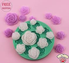 Free Shippingnew Silicone9 Roses Of Different Sizes Designcake