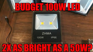 budget bowfishing 100w led light twice as bright as a 50w