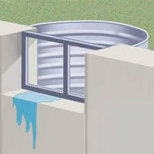 if enough water gathers inside the well large amounts of water can come through the window and or window frame and into your basement