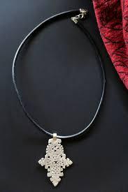 coptic cross pendant necklace