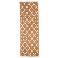 lavish home lattice tan 2 ft x 5 ft runner rug