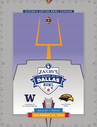 Zaxby S Stock Chart 2015 Zaxbys Heart Of Dallas Bowl Game Program By Espn