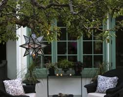 moroccan outdoor lighting. Inspirations Outdoor Moravian Star Light And Moroccan Pendant Lighting Gardening Landscape